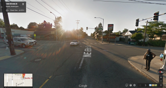 Image of NE 65th ST/15th Ave NE intersection from Google Street View.