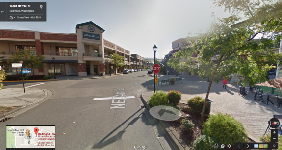 The intersection where the collision occurred, from Google Street View.
