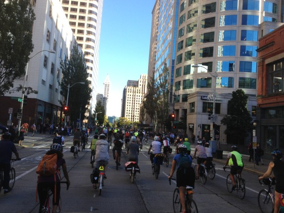 A memorial bike ride for Sher Kung took over 2nd Ave September 5, 2014