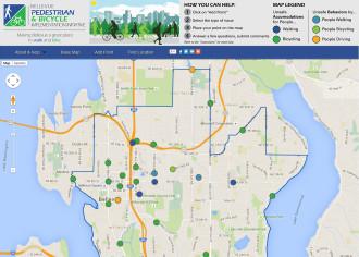 Screenshot of Bellevue's wikimap (click to contribute)