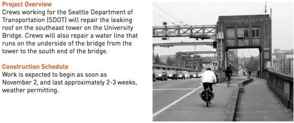 Weeks-long U Bridge bike lane closure starts Monday