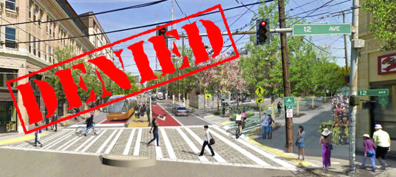 """Better walking, biking and transit all add up to create a multimodal city. Not only will we give this vision up if we vote """"no"""" on Move Seattle, but we'll also slash more basic transportation work. Base image: Madison Bus Rapid Transit project concept"""
