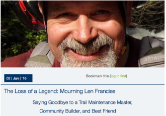 Read more about Len on the Evergreen MTB website.