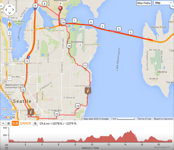 See interactive route map via Cascade's Ride With GPS page.