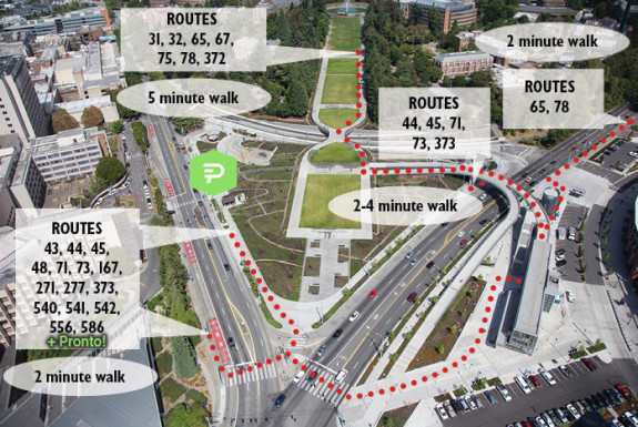Base image from King County Metro (we added the Pronto station)