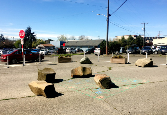 A new street park designed to make this mega intersection safer and increase public space at the same time