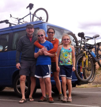 The Loper family. Photo from a 2012 Cascade Bicycle Club profile.