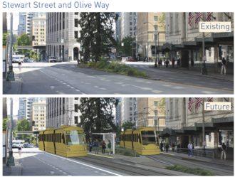 The existing design creates new hazards on Stewart Street.
