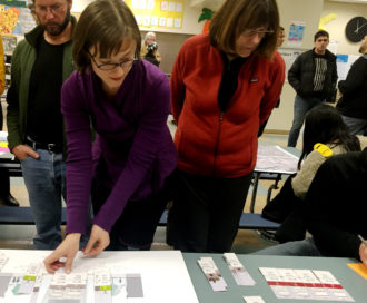 "Community members were asked to ""design"" their own Eastlake Ave during a December open house"