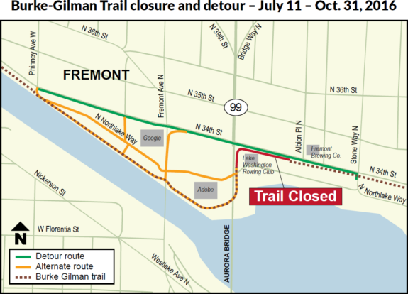 Map from WSDOT