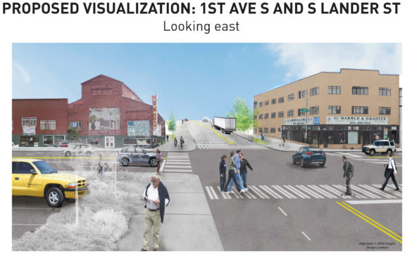 The plan includes a trail on the north side, but what about people heading east?