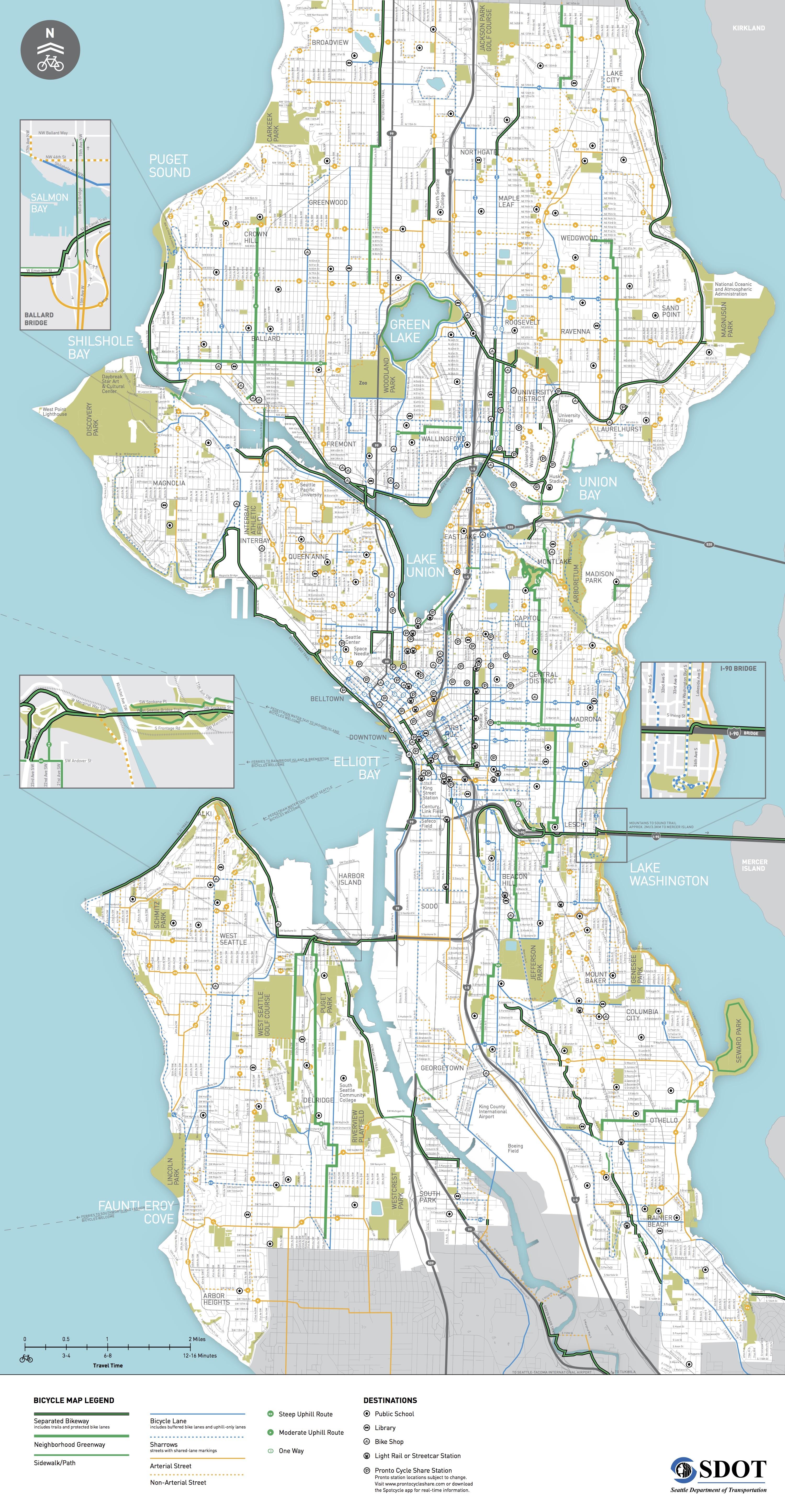 Seattle Bike Map 2016_bikemap_brochure | Seattle Bike Blog