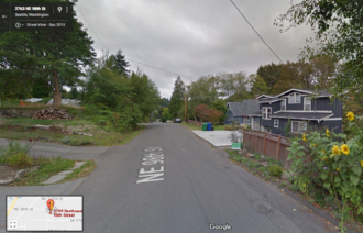 Approximate location of the hit and run, according to the Seattle Fire logs. Image from Google Street View.