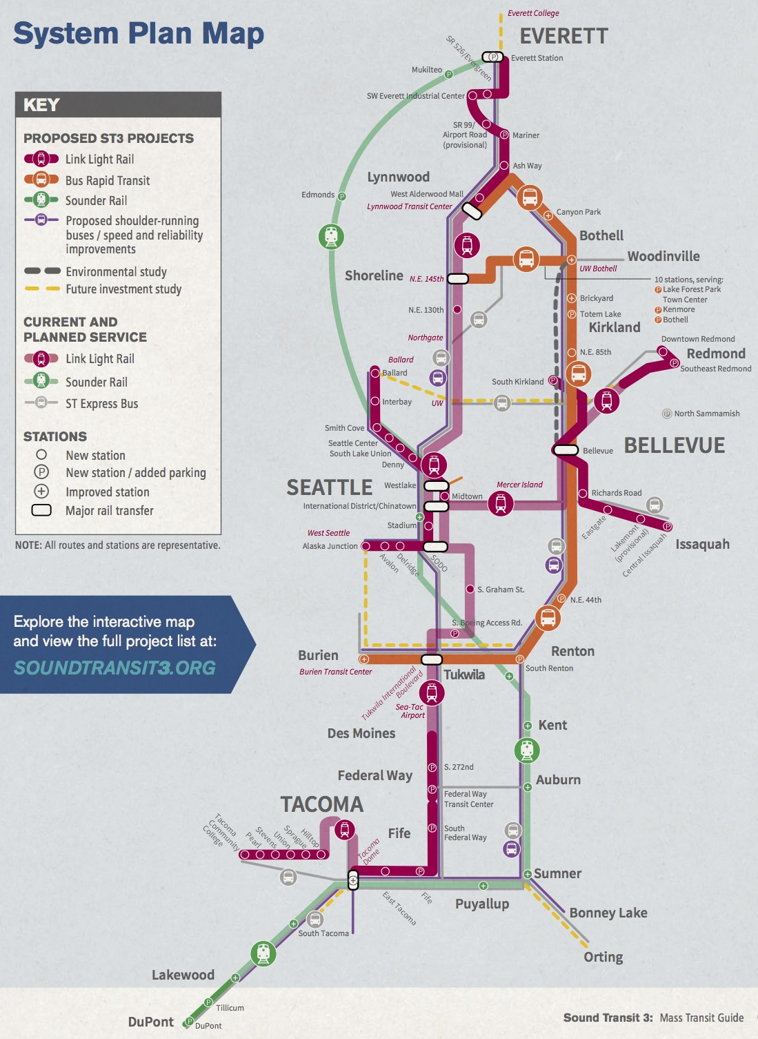 Link Rail Seattle Map.St3 Mass Transit Guide Mailer 2016 090216 Map Seattle Bike Blog
