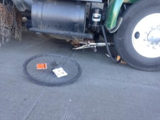 Photo of the collision that injured Gabriel Quintanilla, from SPD.