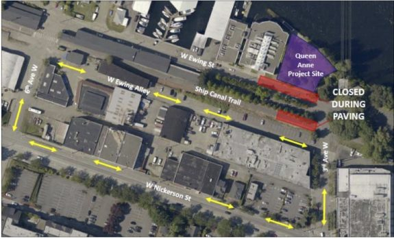 Project map from King County DNRP (full notice PDF).