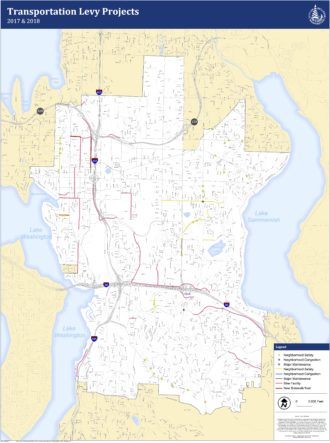 The two-year project map Bellevue's City Council just funded. See map below to see proposed facility types.