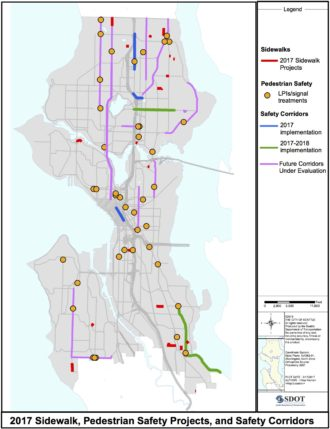 From SDOT. The Yellow dots are planned walking head start locations.