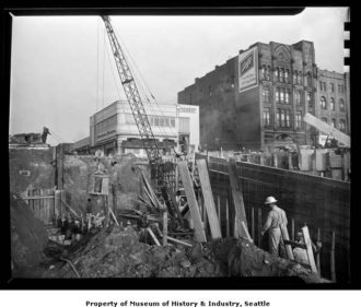 Battery_Street_Tunnel_construction_Seattle_1952