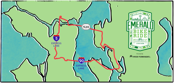The 2017 route, from Cascade.