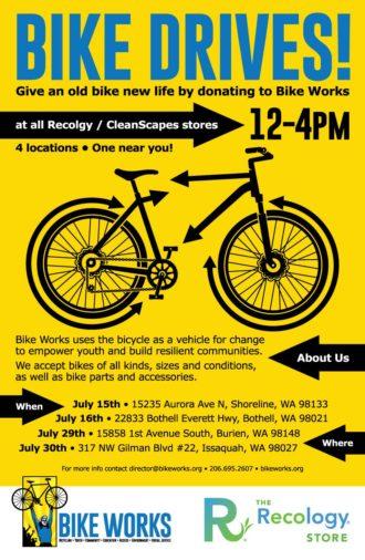Bike drive for Bike Works at Recology store | Seattle Bike Blog