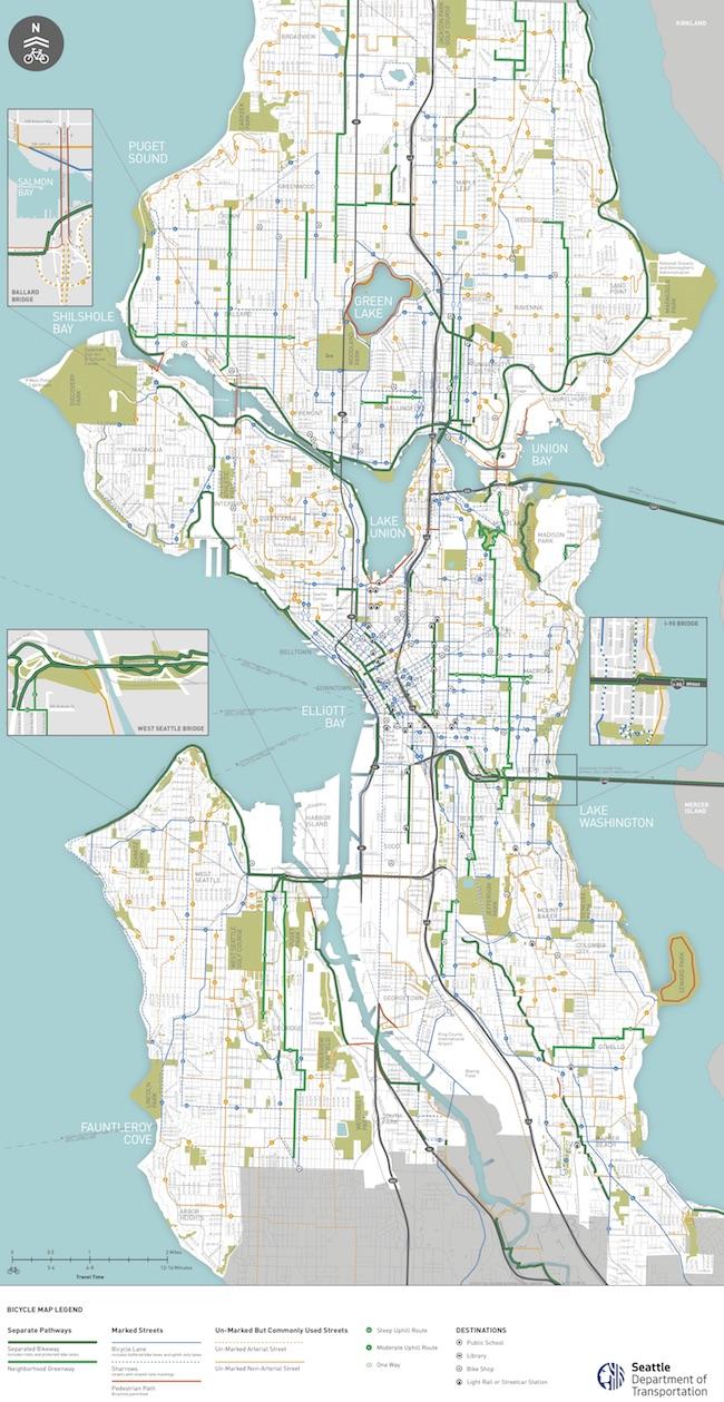 Seattle Area Bike Maps Seattle Bike Blog