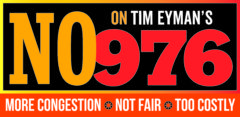 Campaign poster: No on Tim Eyman's 976: More Congestion. Not Fair. Too Costly.