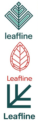 The three Leafline logo options.