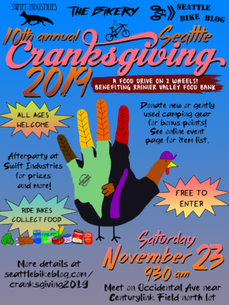 Seattle Cranksgiving 2019 poster. Details in the post.