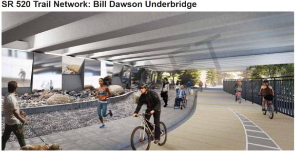 Concept art looking through the Bill Dawson Underbridge