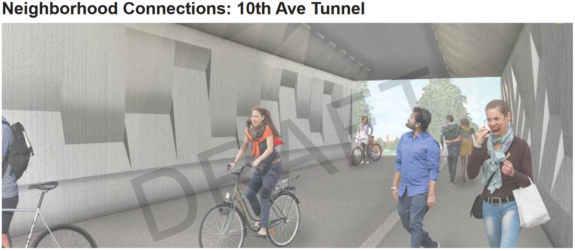 Concept image of the 10th Ave Tunnel.