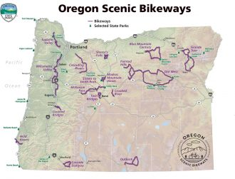 Map of Oregon Scenic Bikeways.