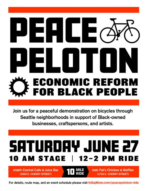 Peace Peloton event poster. Details in post.