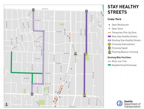 Map of the Cedar Park Stay Healthy Street.