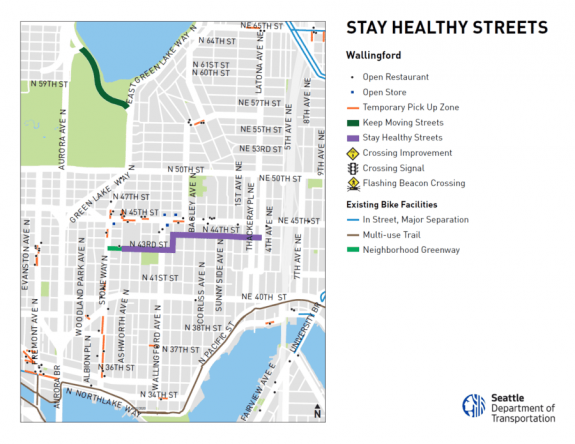 Map of the Wallingford Stay Healthy Street.