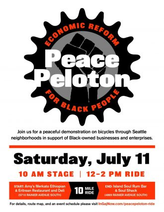 Peace Peloton event poster. Details in the post.