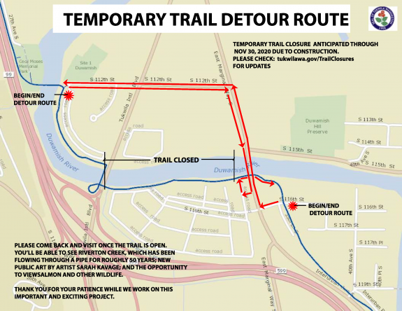 Map of the detour route.