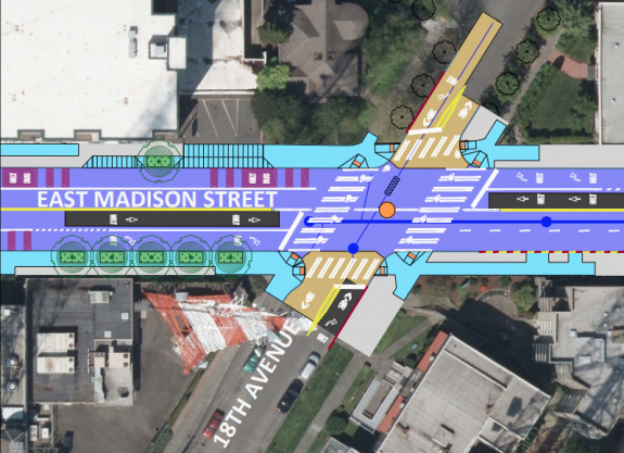 Crosswalks and sidewalk improvements planned for Madison and 18th