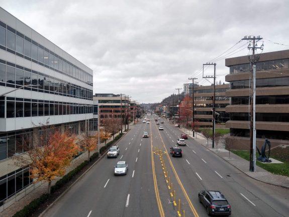 six lane highway with center turn lane
