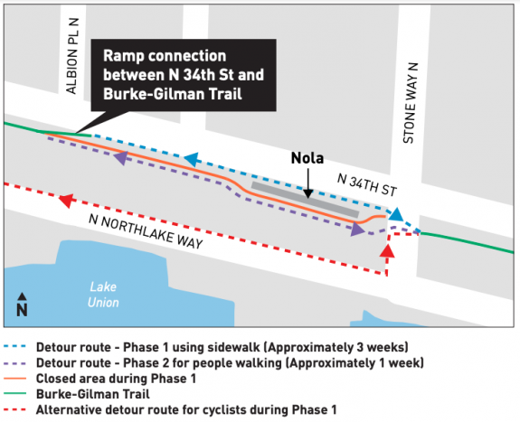 map showing the detour as described in the article