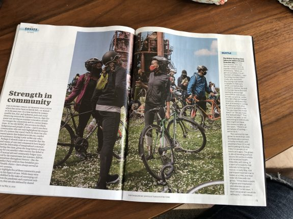 Photo of the magazine spread.