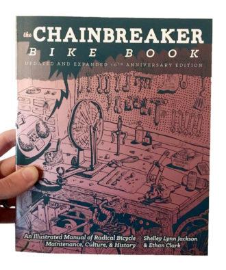 Book cover for The Chainbreaker Bike Book.