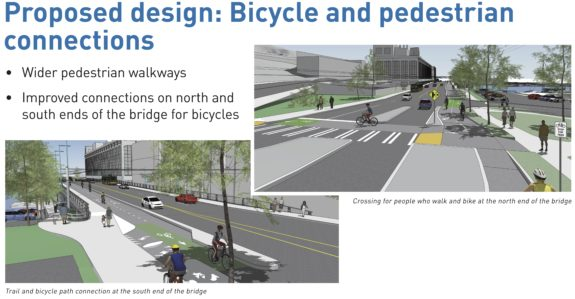 Concept images showing the bike connections at both ends.